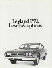 Two 1973 LEYLAND P76 Levels & Options and Aluminium Engine Brochures
