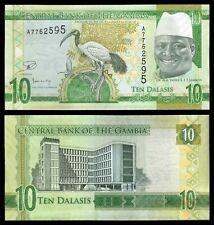 Gambia 10 Dalasis 2015 Pick 32  SC = UNC