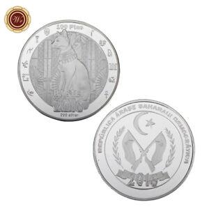 WR 2016 Spain 100 Ptas Silver Coin Western Sahara Egyptian Cat Bastet Collection