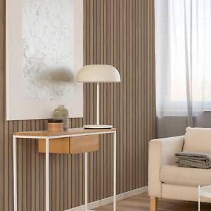 Wooden Slats Effect Textured Wallpaper in Beige/Brown