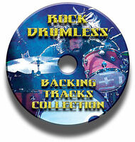 OVER 750 ROCK DRUMLESS BACKING TRACKS DRUMS DRUMMER JAM TRAX