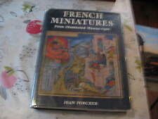 FRENCH MINIATURES & ILLUMINATED MANUSCRIPTS JEAN PORCHER LGE HARDBACK BOOK
