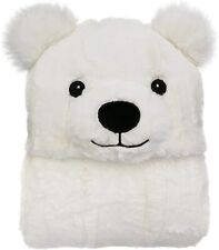 Womens Polar Bear Hooded Wrap Cozy Reversible Plush 71�x49� One Size Blanket Nwt