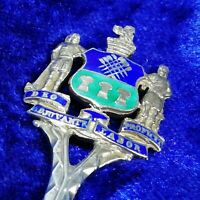 VINTAGE STERLING SILVER & ENAMEL SOUVENIR SPOON - SHEFFIELD City Arms 1922 - 15g