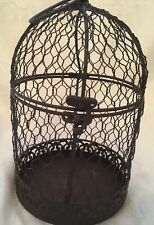 Vintage Chickenwire & Metal Cage Hang/Sit 6� Round 10� High