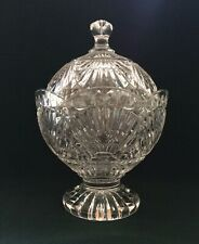 SHANNON CRYSTAL Heavy Covered Candy Dish Footed Bowl with Lid by GODINGER #2903