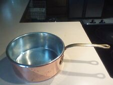 "HEAVY DUTY LARGE COPPER 10"" ROUND 4"" deep TIN LINED PAN MADE IN ITALY"