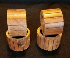 New listing 4 Wooden Napkin Rings Quality Mark Made in India