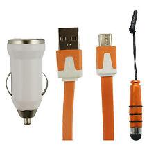 Trio Pack (Micro USB, Cargador de Coche, Lápiz Óptico Mini) para Huawei Ascend