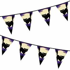 Black Cat Animal Witch Halloween Party Banner Bunting Kids Decoration Book Week