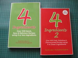 4 Ingredients cookbook 1 and 2 Kim McCosker Rachael Bermingham