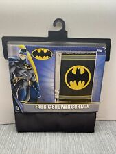 "New Batman Fabric Shower Curtain 70"" x 72"" Dc Comics Dark Knight Bruce Wayne"