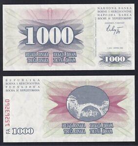 Bosnia Herzegovina 1000 dinara 1992 FDS/UNC  A-06