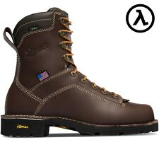 """DANNER® QUARRY USA 8"""" BROWN WATERPROOF WORK BOOTS 17305 - ALL SIZES - NEW"""