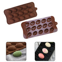 15 Grid Easter Eggs Shape Silicone Chocolate Mould Ice Cube Jelly Wax Melt Soap❤