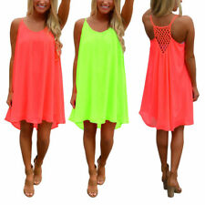 Chiffon Plus Size Summer/Beach Dresses without Pattern for Women