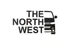 VW T5.1 Transporter 'The North West' Vinyl Decal Sticker