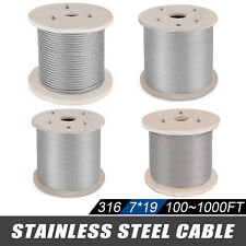 316 Stainless Steel Wire Rope Cable 7x19 Rigging Chemical Machinery
