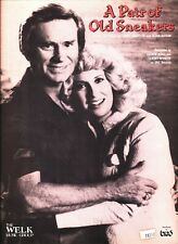 GEORGE JONES AND TAMMY WYNETTE A PAIR OF OLD SNEAKERS SHEET MUSIC 1980 RARE NEW!