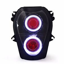 Halo Eye HID Projector Headlight Assembly for Suzuki Hayabusa GSX1300R 99-07 Red