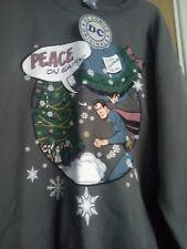 New DC Comics Superman Grey Christmas Sweatshirt Jumper Size XL Extra Large