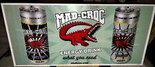 2007 MAD CROC Energy Drink Corrugated Sign Hard Firm Plastic Monster Rockstar