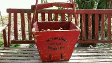 Cambridge Grain Company large red vintage wood bucket
