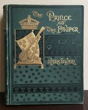 The Prince and the Pauper by Mark Twain 1882 First-Edition American Classic Rare