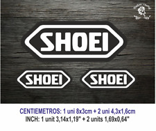 Shoei MOTO GP Visor Casco Blanco Vinilo Pegatina Sticker Vinyl Decal Aufkleber