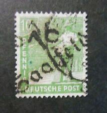 "GERMANY Germania SBZ SAIFELD  distretto ERFURT 16  1948 "" F.SVR "" 10pf US 169III"