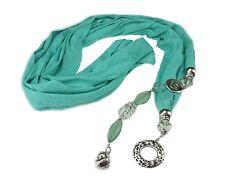 Vert Femme Bijoux Charme Pendentif Écharpe Cou Accessoire Tassel Wrap Châle