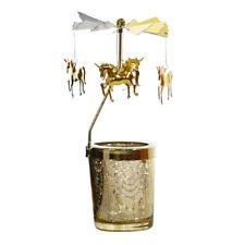 Carousel Candlesticks Candle Holder Rotary Rotating Tealight Xmas Unicorn