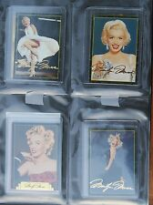 Sports Time Marilyn Monroe Card Lot With RARE 24K Signature Ruby Ring Holochrome