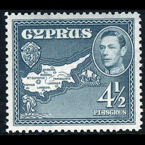 CYPRUS 1938-51 4.5pi Grey. SG 157. Mint Never Hinged. (AW152)