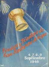 Programa Oficial de las Ferias y Fiestas de San Sadurni de Noya, Septiembre 1946