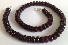 Stunning Faceted Garnet & 925 Silver Necklace