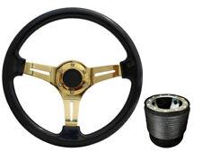 Black Gold TS Steering Wheel + Boss Kit for SEAT 042