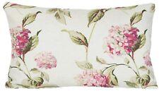 Hydrangea Cushion Cover Laura Ashley Fabric Floral Pink Green Rectangular