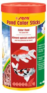 170g Sera Pond Color Sticks 1L BULK Staple Fish Food for Pond Goldfish Koi Fish