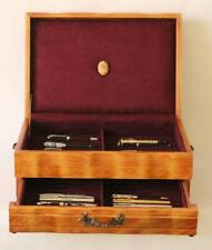 #806 HAND CRAFTED FOUNTAIN PEN STORAGE CUSTOM BUILT SOLID MAHOGANY DISPLAY CHEST