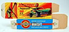 "Matchbox Superfast 13B Baja Buggy leere originale ""I"" Box bemalt"