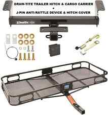 TRAILER HITCH + CARGO BASKET CARRIER + SILENT PIN LOCK FITS 16-17 TOYOTA TACOMA