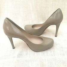 L.K. Bennett Sledge Nude Patent Heels Pumps Shoes 39 ER 8.5 US LK
