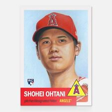 2018 Topps Now Living SHOHEI OHTANI Card #7 Angels ROOKIE RC 1953 Design