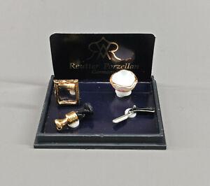 9911067 Reutter Miniatures Maison de Poupée Set Rasage avec Miroir Et Blaireau