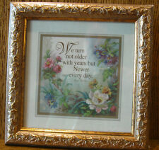 Gallery Graphics Framed Sayings 3350-4642 We turn not older with years but...