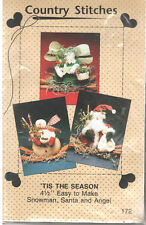 Tis the Season Christmas Sewing Pattern by Country Stitches, Santa, Snowman