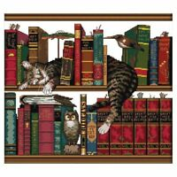 DIY Handmade Needlework Counted Cross Stitch Set Embroidery Kit 14CT Cat on G6X7