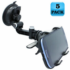 LOT of 5 - MULTI-ANGLE CAR MOUNT DASH/WINDOW CRADLE PHONE HOLDER for SMARTPHONE