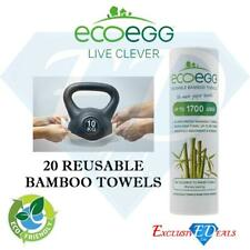 Ecoegg Re-Usable Bamboo White Towels - Kitchen Cleaning, Wiping & Dusting